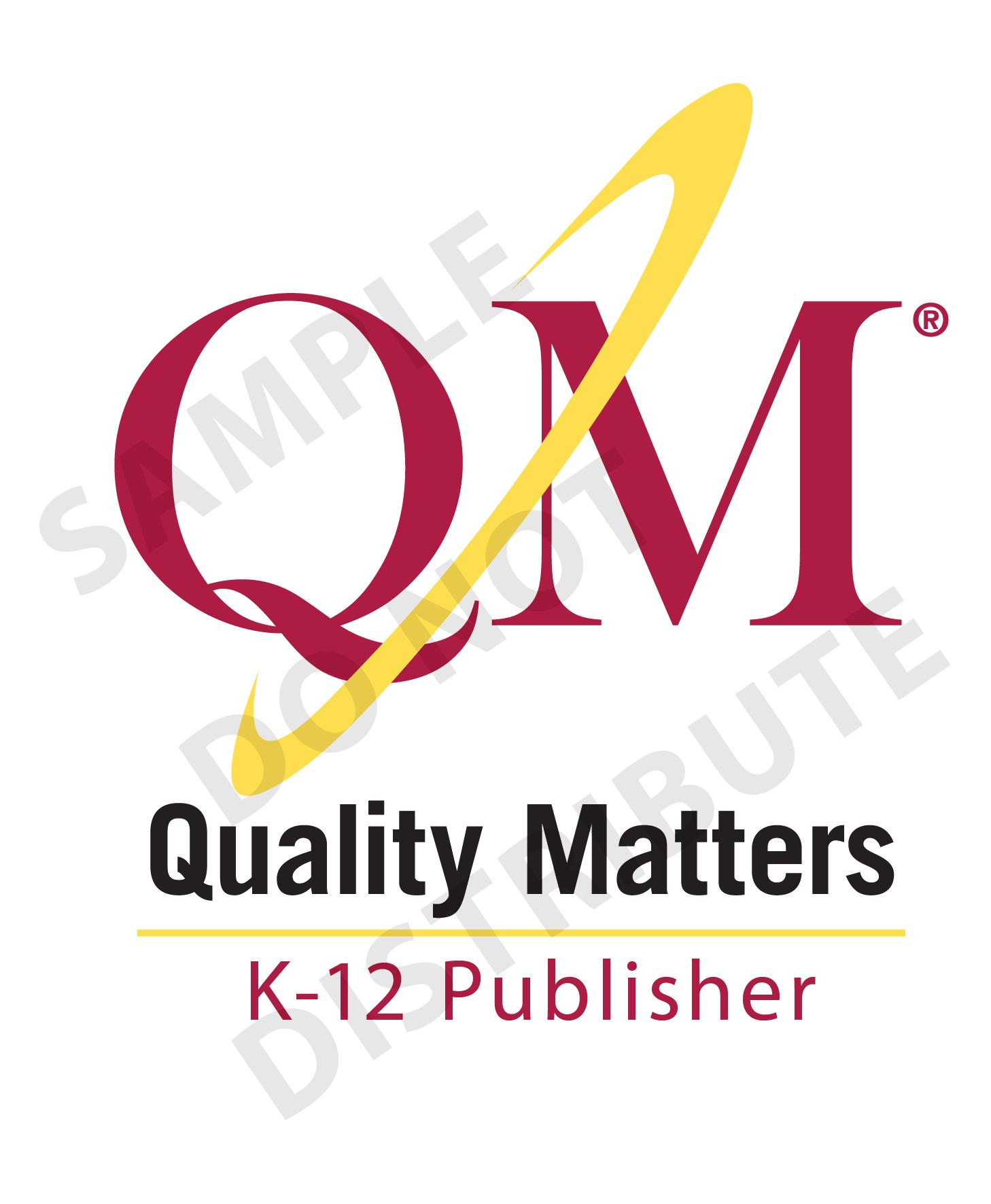 Qm certified course procurement considerations and rfp language qm k 12 publisher sample cert markg 1betcityfo Images