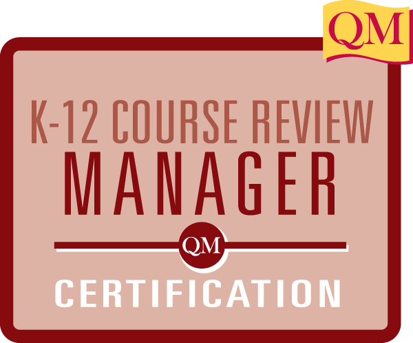 QM K-12 Course Review Manager Certification inside box