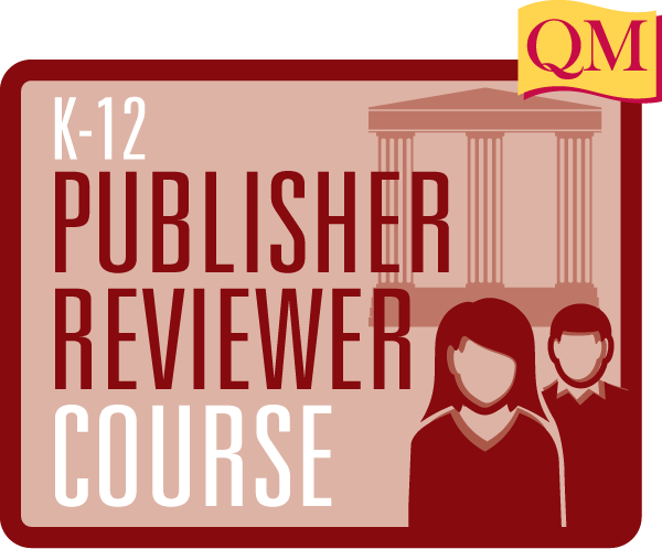 K-12 Publisher Reviewer Course text inside rectangle