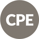 CPE icon, gray circle with CPE inside