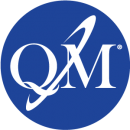 blue circle with QM certification mark