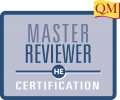master reviewer certification in blue square