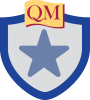 shield with star inside and QM on top